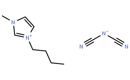 1-丁基-3-甲基咪唑鎓二氰胺盐结构式
