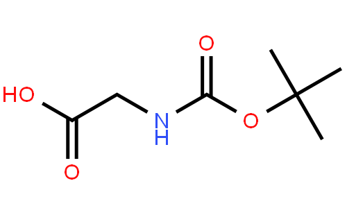 N-叔丁氧羰基甘氨酸结构式