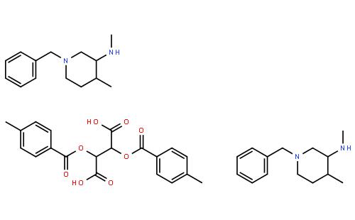 (3R,4R)-1-Benzyl-N,4-dimethylpiperidin-3-amine ((2R,3R)-2,3-bis((4-methylbenzoyl)oxy)succinate) (2:1)