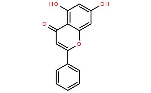 白杨素结构式