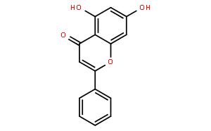 白杨素(CAS:480-40-0)结构式图片