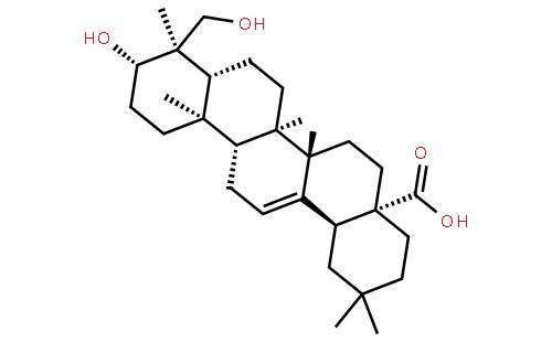 常春藤皂苷元结构式