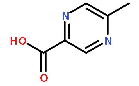 5-甲基吡嗪-2-羧酸(cas:413-260-9) 结构式图片