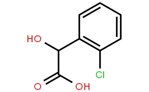 左旋邻氯扁桃酸结构式