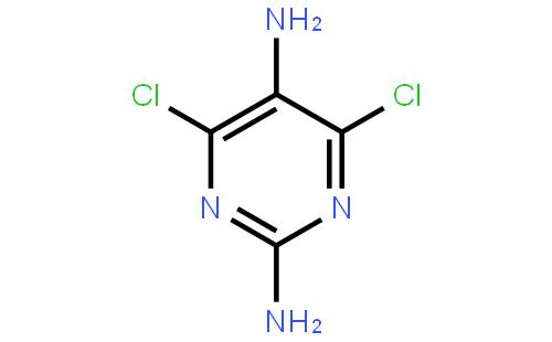 2,5-二氨基-4,6-二氯嘧啶结构式