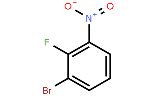 2-氟-3-溴硝基苯结构式