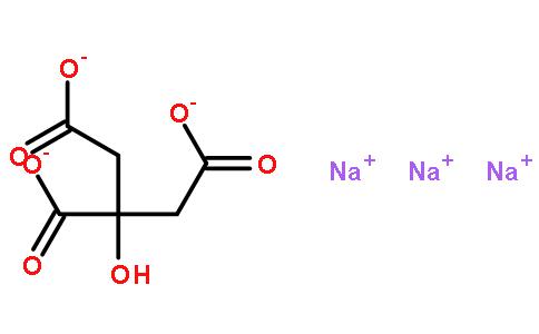 柠檬酸钠结构式