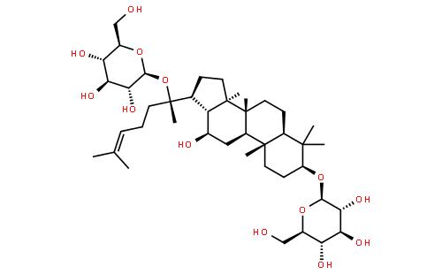人参皂苷 f2 cas登录号:62025-49-4 英文名称:ginsenoside f2 分子式图片
