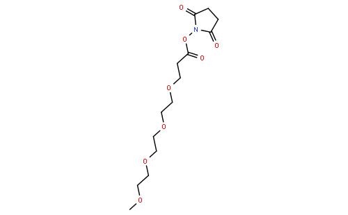 (2,5-dioxopyrrolidin-1-yl) 3-[2-[2-(2-methoxyethoxy)ethoxy]ethoxy]propanoate