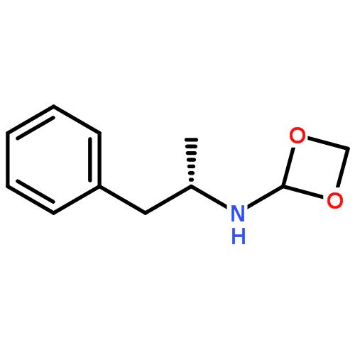 (s)-亚甲二氧基甲基苯丙胺结构式