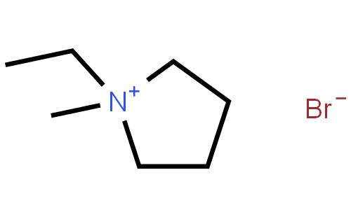 1-甲基-1-乙基溴化吡咯烷结构式