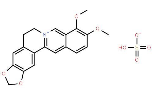 硫酸小檗碱结构式
