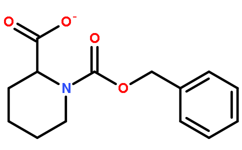 N-苄氧羰基-2-哌啶甲酸结构式