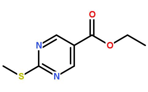 2-甲硫基-5-嘧啶羧酸乙酯结构式