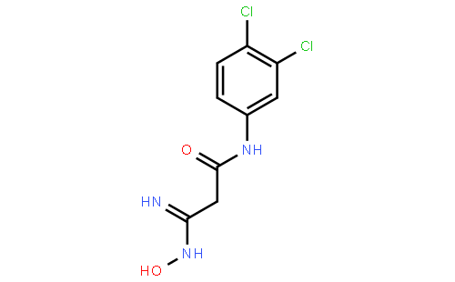 n-(3,4-二氯苯基)-3-羟基胺-3-咪唑丙酰胺(cas:763031-30-7) 结构式