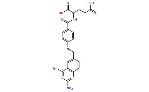 4 -二氨基吡啶并[3,2-d]嘧啶-6 -基)甲基]氨基}苯甲酰基)谷氨酸结构式