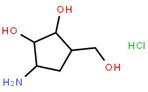 (1R,2S,3R,4R)-2,3-二羟基-4-(羟甲基)-1-氨基环戊烷水电氯化物