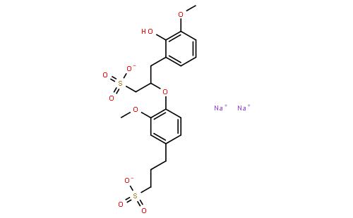 木质素磺酸钠结构式
