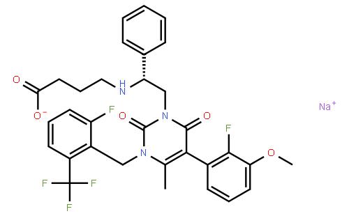 Elagolix sodium (NBI-56418)