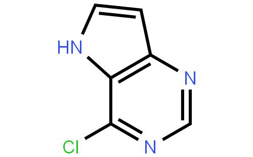 4-氯-5-H-吡咯[3,2-d]并嘧啶结构式