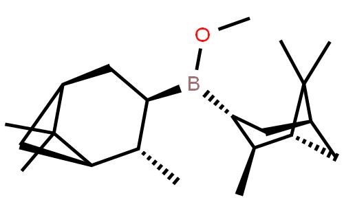 久能国际贸易(天津)有限公司 > (-)-b-甲氧基二异松莰基硼烷   结构式