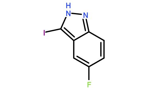 5-氟-3-碘-1h-吲唑(cas:858629-06-8) 结构式图片