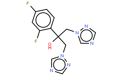 氟康唑结构式