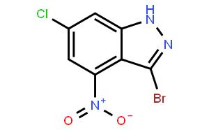 3-bromo-6-chloro-4-nitro indazole
