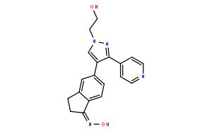 2,3-二氢-5-[1-(2-羟基乙基)-3-(4-吡啶基)-1H-吡唑-4-基]-1H-茚-1-酮肟