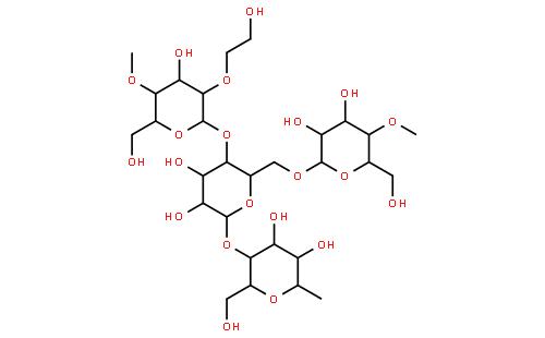 羟乙基纤维素结构式