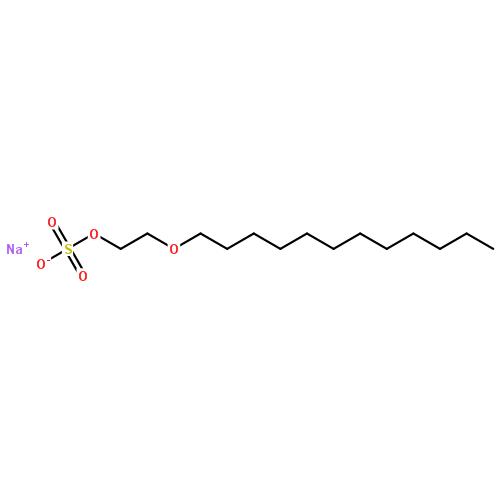 > 月桂醇聚氧乙烯醚硫酸酯钠盐