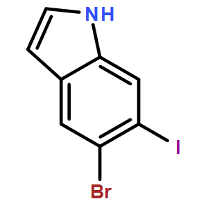 5-BROMO-6-IODOINDOLE