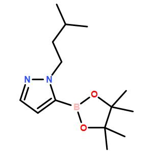1-isopentyl-5-(4,4,5,5-tetramethyl-1,3,2-dioxaborolan-2-yl)-1H-pyrazole