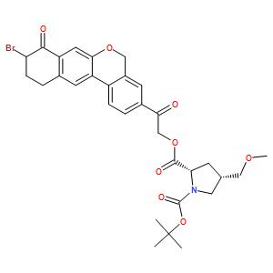 (2S,4S)-4-(Methoxymethyl)-1,2-pyrrolidinedicarboxylic acid 2-[2-(9-bromo-8,9,10,11-tetrahydro-8-oxo-5H-benzo[d]naphtho[2,3-b]pyran-3-yl)-2-oxoethyl] 1-(1,1-dimethylethyl) ester