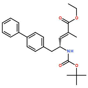 (4R)-5-[1,1'-Biphenyl]-4-yl-4-[[(1,1-dimethylethoxy)carbonyl]amino]-2-methyl-2-pentenoic acid ethyl ester