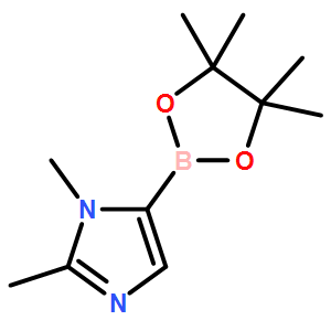 1,2-dimethyl-5-(4,4,5,5-tetramethyl-1,3,2-dioxaborolan-2-yl)-1H-imidazole