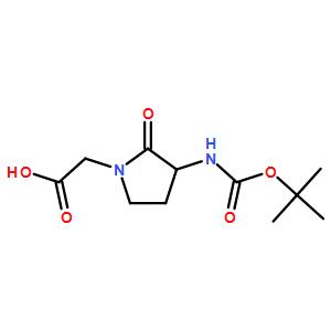 (S)-2-(3-((tert-butoxycarbonyl)amino)-2-oxopyrrolidin-1-yl)acetic acid