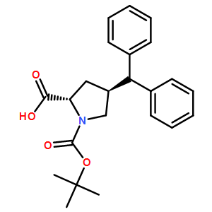 Boc-(2S,4S)-4-benzhydryl-1-(tert-butoxycarbonyl)pyrrolidine-2-carboxylicacid