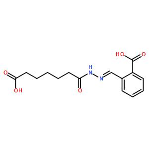 2-{(e)-[(6-carboxyhexanoyl)hydrazono]methyl}benzoic Acid
